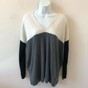 Ann Taylor Colorblock Long Sleeve Sweater- Size S